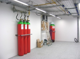 The automatic gas fire suppression