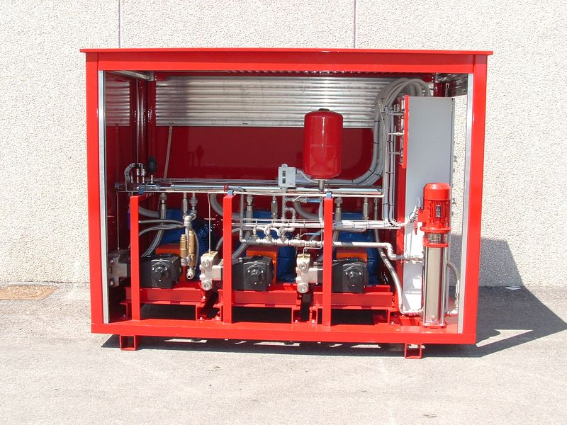 Water mist fire suppression system